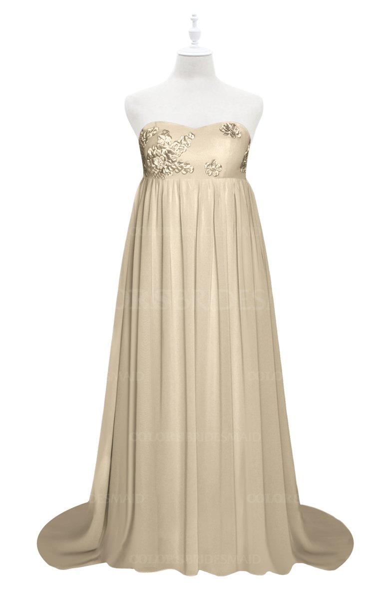 ColsBM Milania Champagne Plus Size Bridesmaid Dresses - ColorsBridesmaid