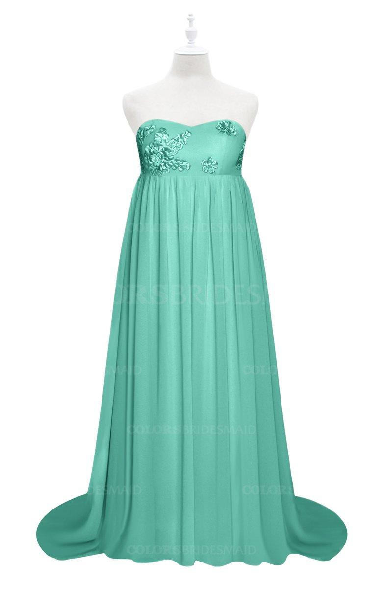 ColsBM Milania - Mint Green Plus Size Bridesmaid Dresses