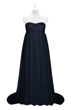 0b9bb5e889e ColsBM Milania Navy Blue Plus Size Bridesmaid Dresses Sweetheart Sleeveless  Empire Pleated Backless Gorgeous