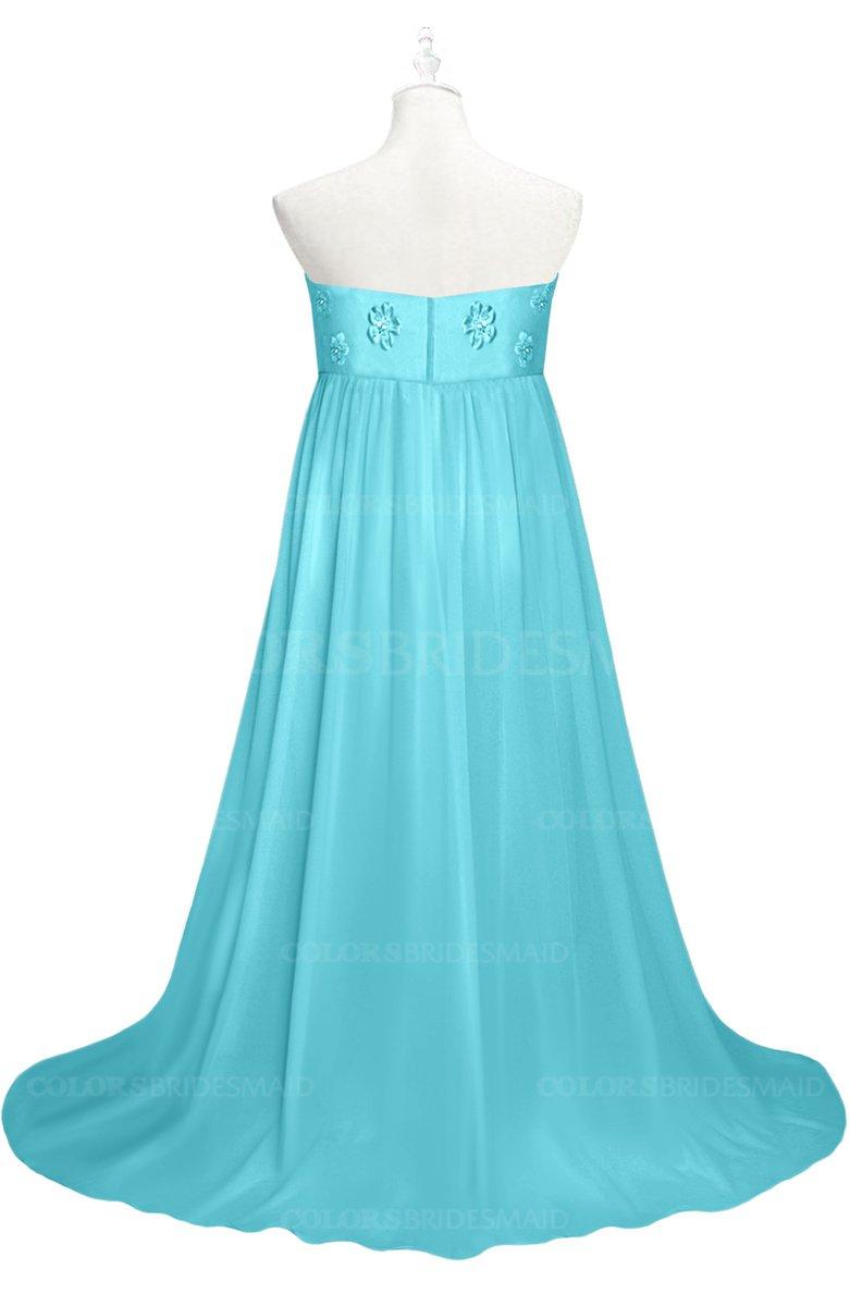 ColsBM Milania - Turquoise Plus Size Bridesmaid Dresses