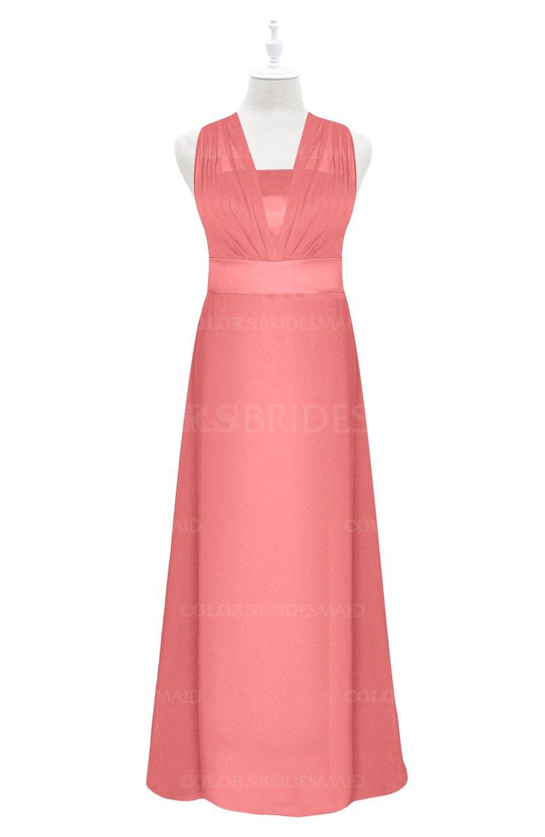 ColsBM Mckinley - Coral Plus Size Bridesmaid Dresses