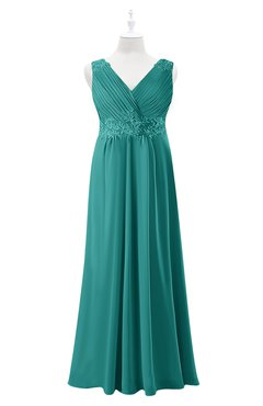 32df1a07c74 ColsBM Malaysia Emerald Green Plus Size Bridesmaid Dresses Floor Length  Sleeveless V-neck Sexy A