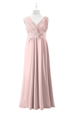 048158ccbd4 ColsBM Malaysia Pastel Pink Plus Size Bridesmaid Dresses Floor Length  Sleeveless V-neck Sexy A