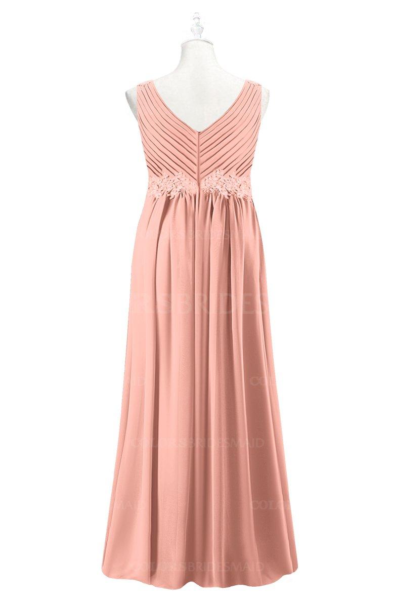 ColsBM Malaysia - Peach Plus Size Bridesmaid Dresses