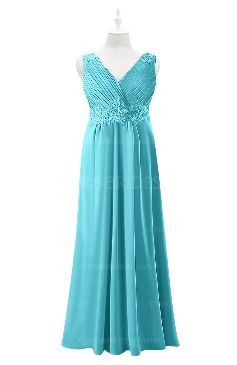 ColsBM Malaysia - Turquoise Plus Size Bridesmaid Dresses