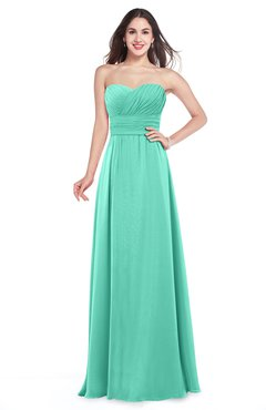 28433fd2c1cc2 ColsBM Jadyn Seafoam Green Bridesmaid Dresses Zip up Classic Strapless  Pleated A-line Floor Length