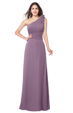 ColsBM Lashay Valerian Bridesmaid Dresses Sleeveless Asymmetric Neckline Simple Floor Length Sash Zipper