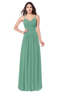 ColsBM Kinley Beryl Green Bridesmaid Dresses Sleeveless Sexy Half Backless Pleated A-line Floor Length