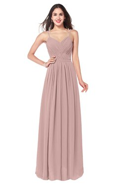 ColsBM Kinley Blush Pink Bridesmaid Dresses Sleeveless Sexy Half Backless Pleated A-line Floor Length
