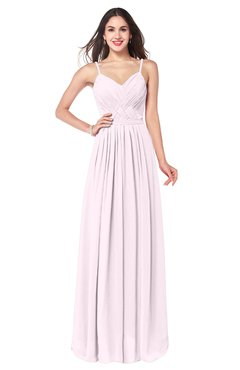 ColsBM Kinley Blush Bridesmaid Dresses Sleeveless Sexy Half Backless Pleated A-line Floor Length