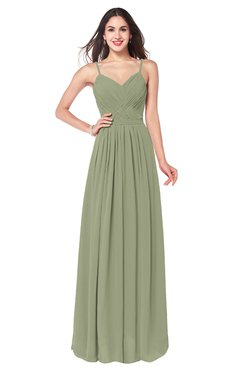ColsBM Kinley Bog Bridesmaid Dresses Sleeveless Sexy Half Backless Pleated A-line Floor Length