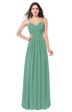 ColsBM Kinley Bristol Blue Bridesmaid Dresses Sleeveless Sexy Half Backless Pleated A-line Floor Length