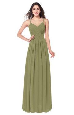 ColsBM Kinley Cedar Bridesmaid Dresses Sleeveless Sexy Half Backless Pleated A-line Floor Length