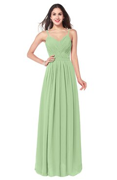 ColsBM Kinley Gleam Bridesmaid Dresses Sleeveless Sexy Half Backless Pleated A-line Floor Length