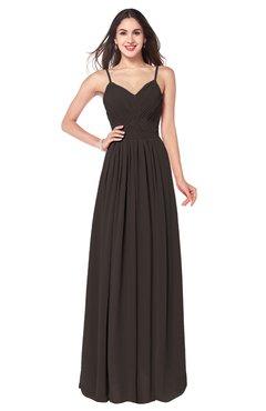 ColsBM Kinley Java Bridesmaid Dresses Sleeveless Sexy Half Backless Pleated A-line Floor Length