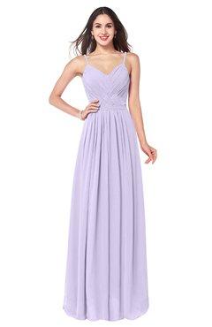 ColsBM Kinley Light Purple Bridesmaid Dresses Sleeveless Sexy Half Backless Pleated A-line Floor Length