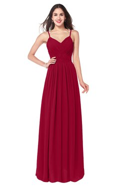 ColsBM Kinley Maroon Bridesmaid Dresses Sleeveless Sexy Half Backless Pleated A-line Floor Length