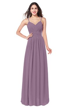 ColsBM Kinley Mauve Bridesmaid Dresses Sleeveless Sexy Half Backless Pleated A-line Floor Length