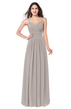 ColsBM Kinley Mushroom Bridesmaid Dresses Sleeveless Sexy Half Backless Pleated A-line Floor Length
