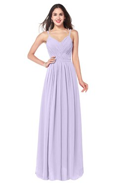 ColsBM Kinley Pastel Lilac Bridesmaid Dresses Sleeveless Sexy Half Backless Pleated A-line Floor Length