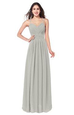 ColsBM Kinley Platinum Bridesmaid Dresses Sleeveless Sexy Half Backless Pleated A-line Floor Length
