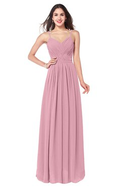 ColsBM Kinley Rosebloom Bridesmaid Dresses Sleeveless Sexy Half Backless Pleated A-line Floor Length