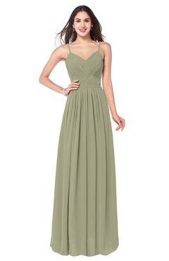 ColsBM Kinley Sponge Bridesmaid Dresses Sleeveless Sexy Half Backless Pleated A-line Floor Length
