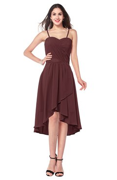 ColsBM Lavern Burgundy Bridesmaid Dresses Sleeveless Asymmetric Ruching A-line Elegant Sweetheart