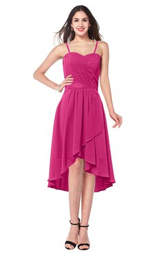 ColsBM Lavern Cabaret Bridesmaid Dresses Sleeveless Asymmetric Ruching A-line Elegant Sweetheart