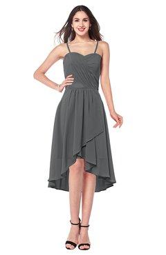 ColsBM Lavern Grey Bridesmaid Dresses Sleeveless Asymmetric Ruching A-line Elegant Sweetheart