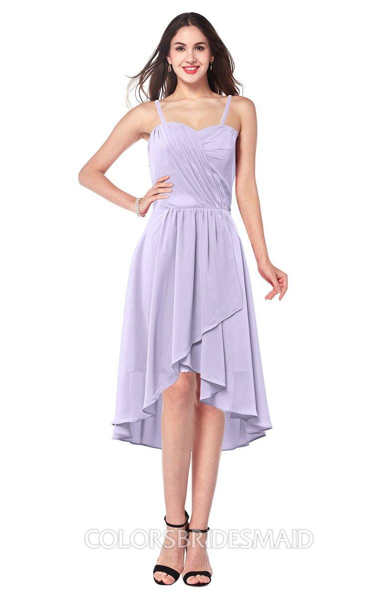 cbe70dd6f0718 ColsBM Lavern Light Purple Bridesmaid Dresses Sleeveless Asymmetric Ruching  A-line Elegant Sweetheart