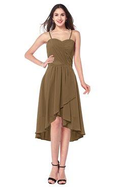ColsBM Lavern Truffle Bridesmaid Dresses Sleeveless Asymmetric Ruching A-line Elegant Sweetheart