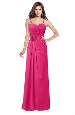cf74c504cb4 ColsBM Terell Fuschia Bridesmaid Dresses Appliques Floor Length Modern Sleeveless  Strapless Half Backless