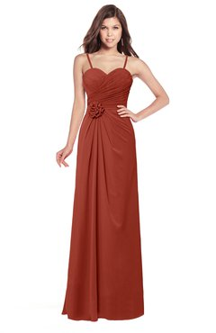 b6f6cc6b1dcc ColsBM Terell Rust Bridesmaid Dresses Appliques Floor Length Modern  Sleeveless Strapless Half Backless