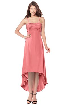 ColsBM Audley Coral Bridesmaid Dresses Sleeveless Hi-Lo Gorgeous Spaghetti Pick up A-line