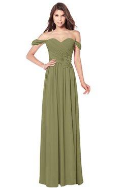 ColsBM Kaolin Cedar Bridesmaid Dresses A-line Floor Length Zip up Short Sleeve Appliques Gorgeous