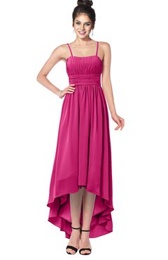 ColsBM Kinsley Cabaret Bridesmaid Dresses Half Backless Hi-Lo A-line Mature Sleeveless Spaghetti
