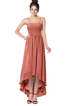 ColsBM Kinsley Crabapple Bridesmaid Dresses Half Backless Hi-Lo A-line Mature Sleeveless Spaghetti