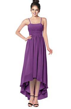 ColsBM Kinsley Dahlia Bridesmaid Dresses Half Backless Hi-Lo A-line Mature Sleeveless Spaghetti