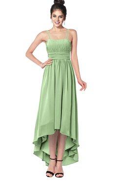 ColsBM Kinsley Gleam Bridesmaid Dresses Half Backless Hi-Lo A-line Mature Sleeveless Spaghetti