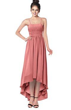 ColsBM Kinsley Lantana Bridesmaid Dresses Half Backless Hi-Lo A-line Mature Sleeveless Spaghetti