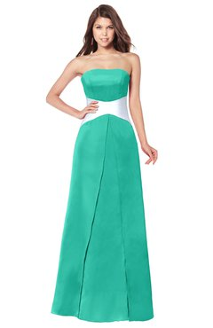 ColsBM Jeptha Ceramic Bridesmaid Dresses A-line Floor Length Zip up Sleeveless Glamorous Strapless