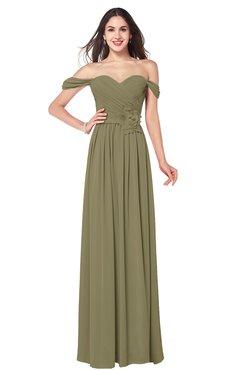 ColsBM Katelyn Boa Bridesmaid Dresses Zip up A-line Floor Length Sweetheart Short Sleeve Gorgeous
