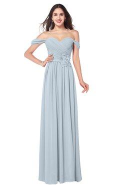ColsBM Katelyn Illusion Blue Bridesmaid Dresses Zip up A-line Floor Length Sweetheart Short Sleeve Gorgeous