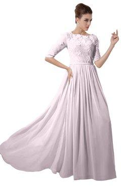 ColsBM Rene Blush Bridesmaid Dresses Boat Flower A-line Elastic Elbow Length Sleeve Hawaiian