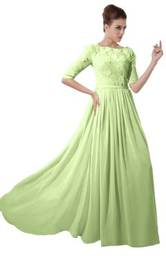 ColsBM Rene Butterfly Bridesmaid Dresses Boat Flower A-line Elastic Elbow Length Sleeve Hawaiian