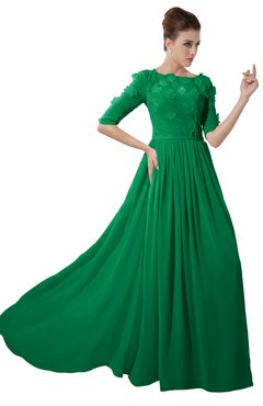ColsBM Rene Jelly Bean Bridesmaid Dresses Boat Flower A-line Elastic Elbow Length Sleeve Hawaiian
