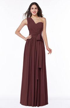 long bridesmaid dresses in burgundy