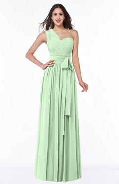 long bridesmaid dresses in green