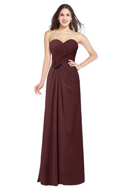 ColsBM Josie Burgundy Glamorous Sweetheart Sleeveless Zip up Flower Plus Size Bridesmaid Dresses